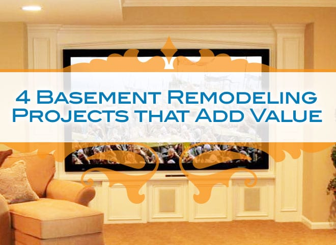 48 Basement Remodeling Projects That Add Value [Infographic Magnificent Basement Remodeling Madison Wi