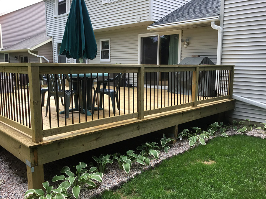 Treated Deck Remodel Waunakee Remodeling Inc